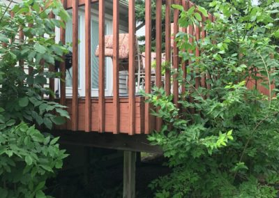 Deck Repair Corner View Before