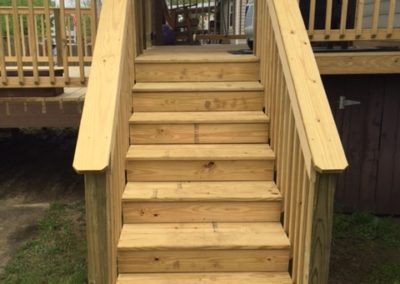 Completed Deck Steps