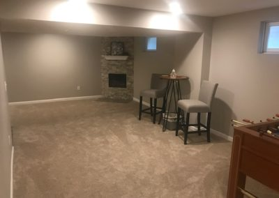 After Corner Area with Stone Fireplace